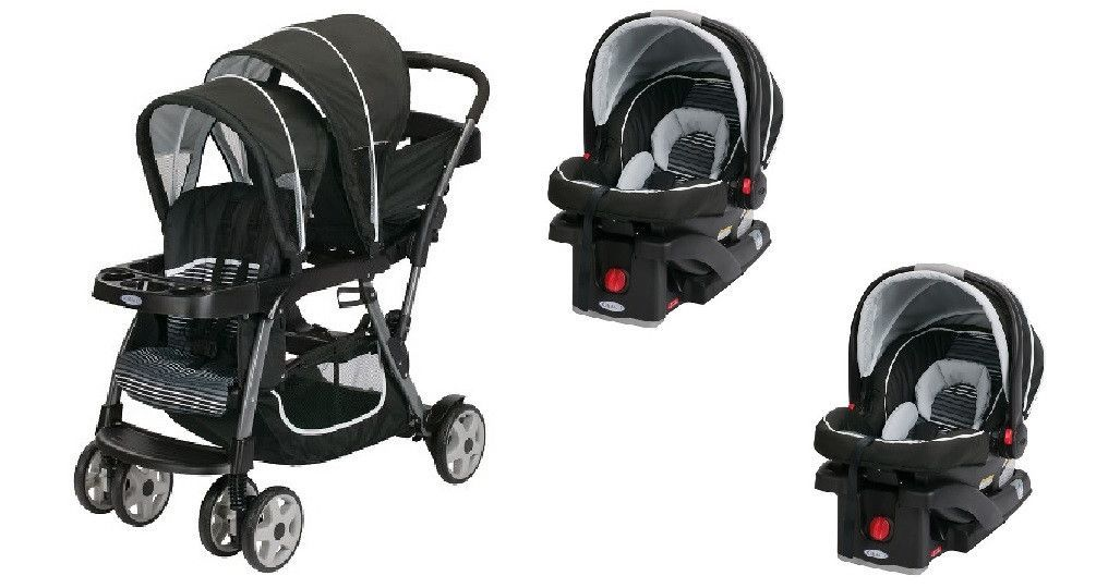Graco Licorice Baby, Infant Double Twin Stroller Travel