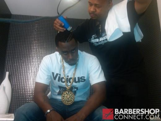 P Diddy Getting A New High Top Fade Haircut By Curtis Smith Hair