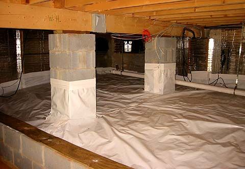 How To Insulate A Crawl Space With A Dirt Floor Home Insulation Home Remodeling Basement Remodeling