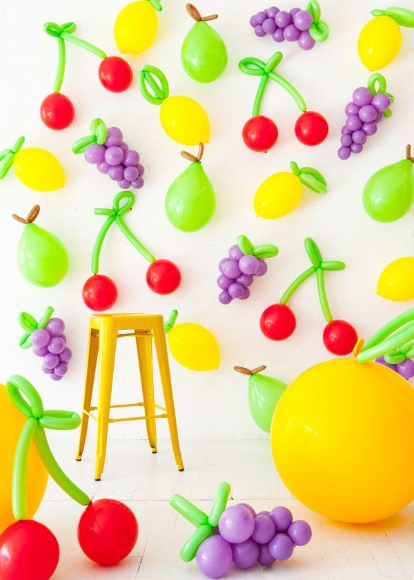 DIY Balloon Fruit Oh Happy Day! Photobooth Pinterest - imagenes de decoracion con globos