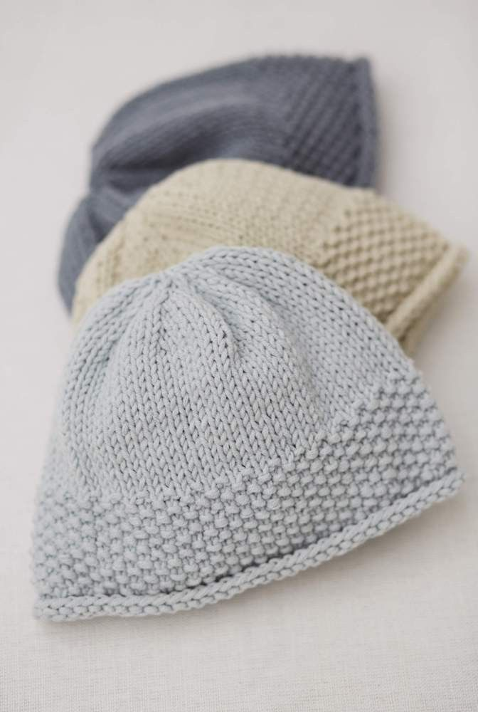 Moss Stitch Hat In Rowan All Seasons Cotton Knitting Pinterest