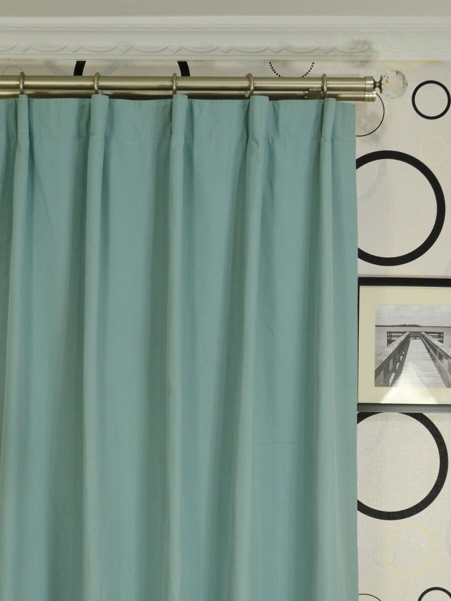 Ready Made Curtains 108 Drop Moonbay Plain Versatile Pleat Cotton Extra Long Curtains 108 120