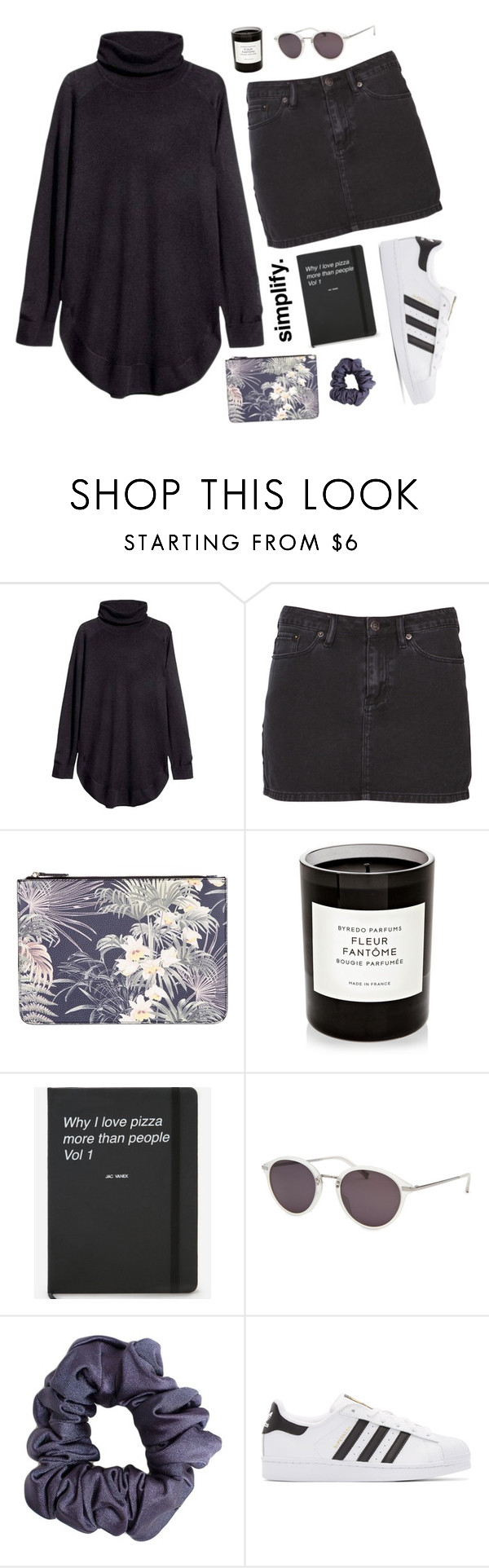 """""""Untitled #2014"""" by katerina-rampota ❤ liked on Polyvore featuring H&M, Ksubi, Warehouse, Byredo, Calvin Klein, American Apparel and adidas Originals"""