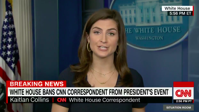 White House Bans CNN Reporter Who Asked Trump About Cohen