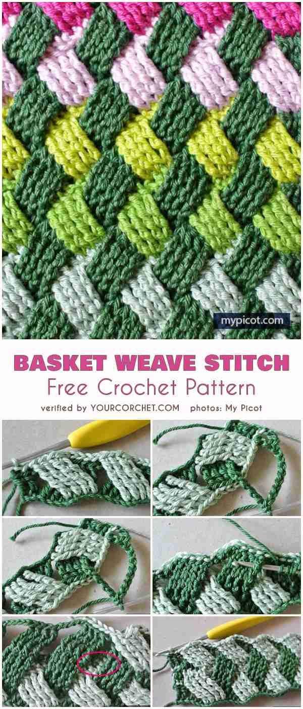 Basket Weave Stitch Free Crochet Pattern #booties