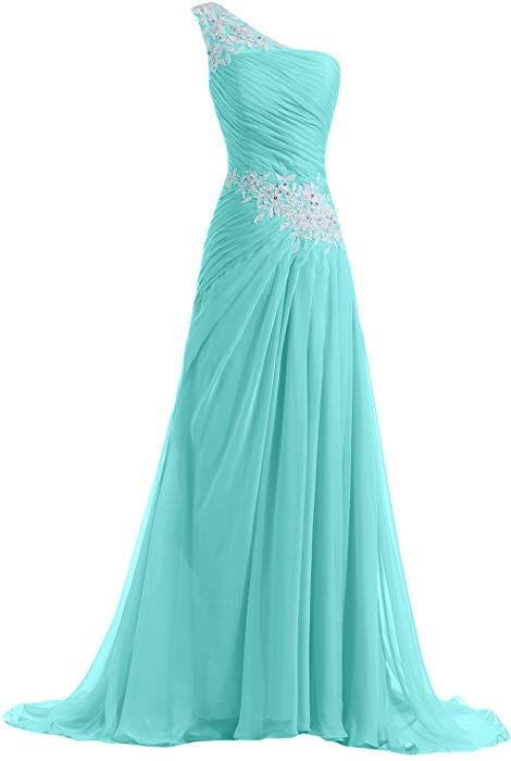 Sunvary Designer Chiffon and Applique Bridesmaid Dress Evening Prom Gowns Full-Length