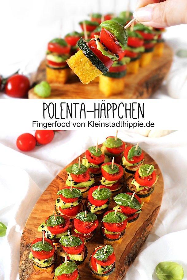 Polenta-Häppchen #fingerfoodpartyappetizers