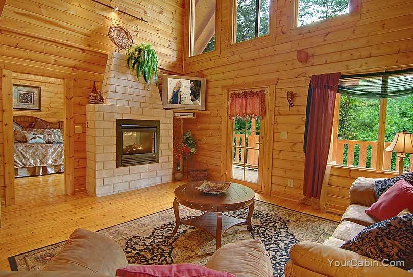 Midnight Fun 1 Bedroom Cabin Rental Cabins In The Smokies Honeymoon Cabin Cabin