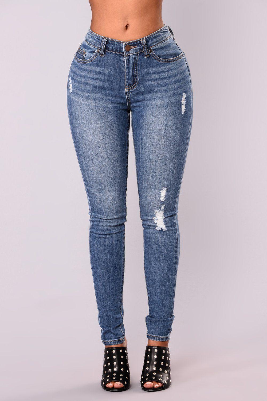 478ff92fa4 Go Girl Skinny Jeans - Medium Blue en 2019
