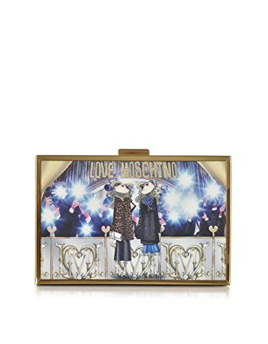 LOVE MOSCHINO Love Moschino Women'S Jc4109Pp12Lr0104 Multicolor Plastic Clutch. #lovemoschino #bags #shoulder bags #clutch #hand bags #