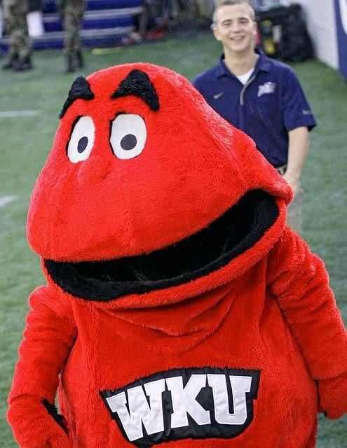 Pin By Unisunn 144 College Football B On Wku Western Kentucky University Hilltoppers Mascot Team Mascots Western Kentucky University