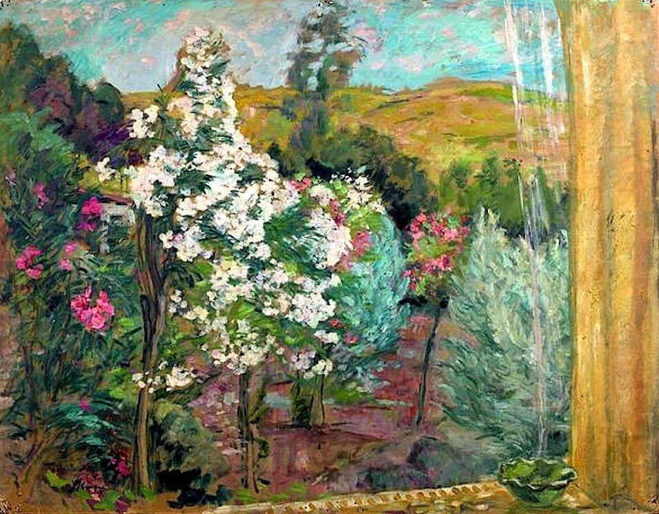 Henri LEBASQUE(1865-1937)  Le Jardin vu de la fenêtre