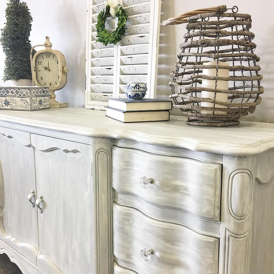 Vintage Refined Had Fun Mixing It Up With This Piece By Giving It A Color  Wash Effect With Chalk Paint® By Annie Sloan. She Used Old White Over Paris  Grey.