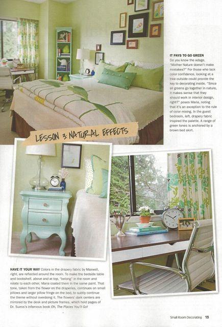 Maria Killam in Small Room Decorating Magazine   Bedroom   Pinterest ...