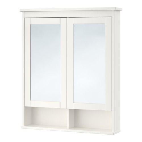 Hemnes Mirror Cabinet With 2 Doors White 32 5 8x6 1 4x38 5 8 Badkamer Spiegelkast Ikea Badkamer Hemnes