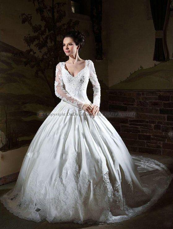 italian style long sleeve wedding dress lace  Google