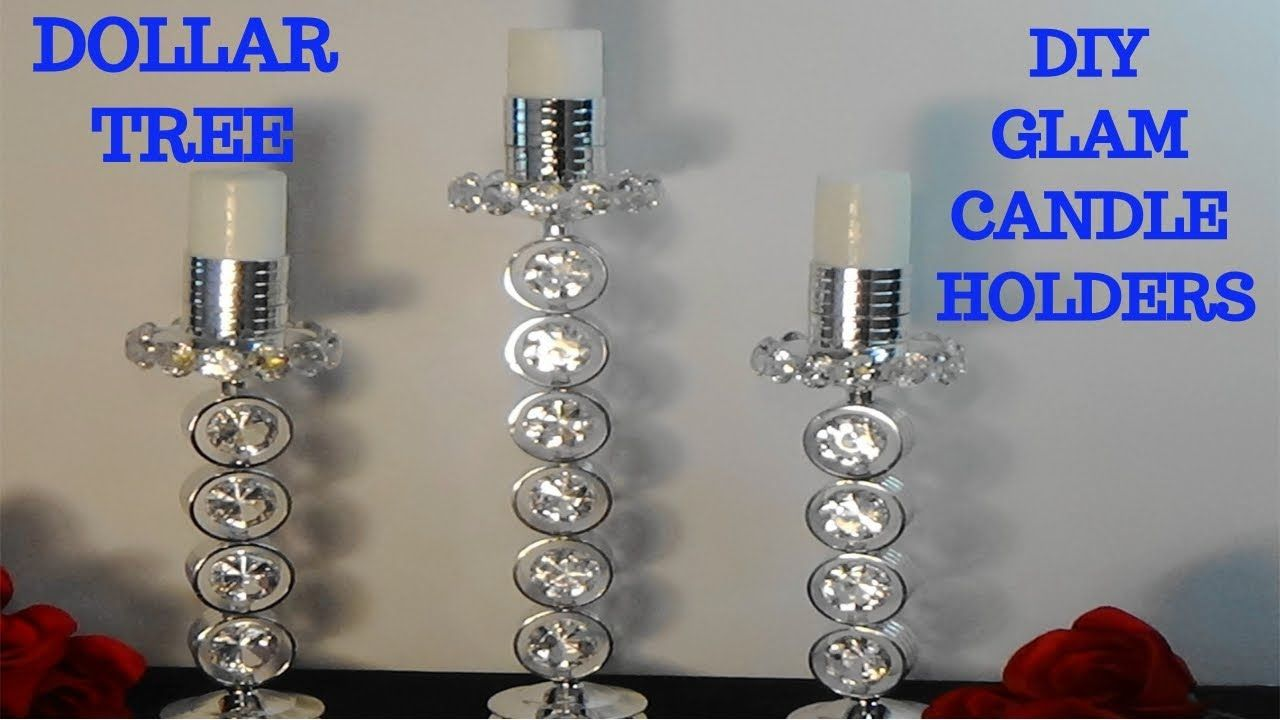 Diy glamelegant dollar tree candle holders youtube glass