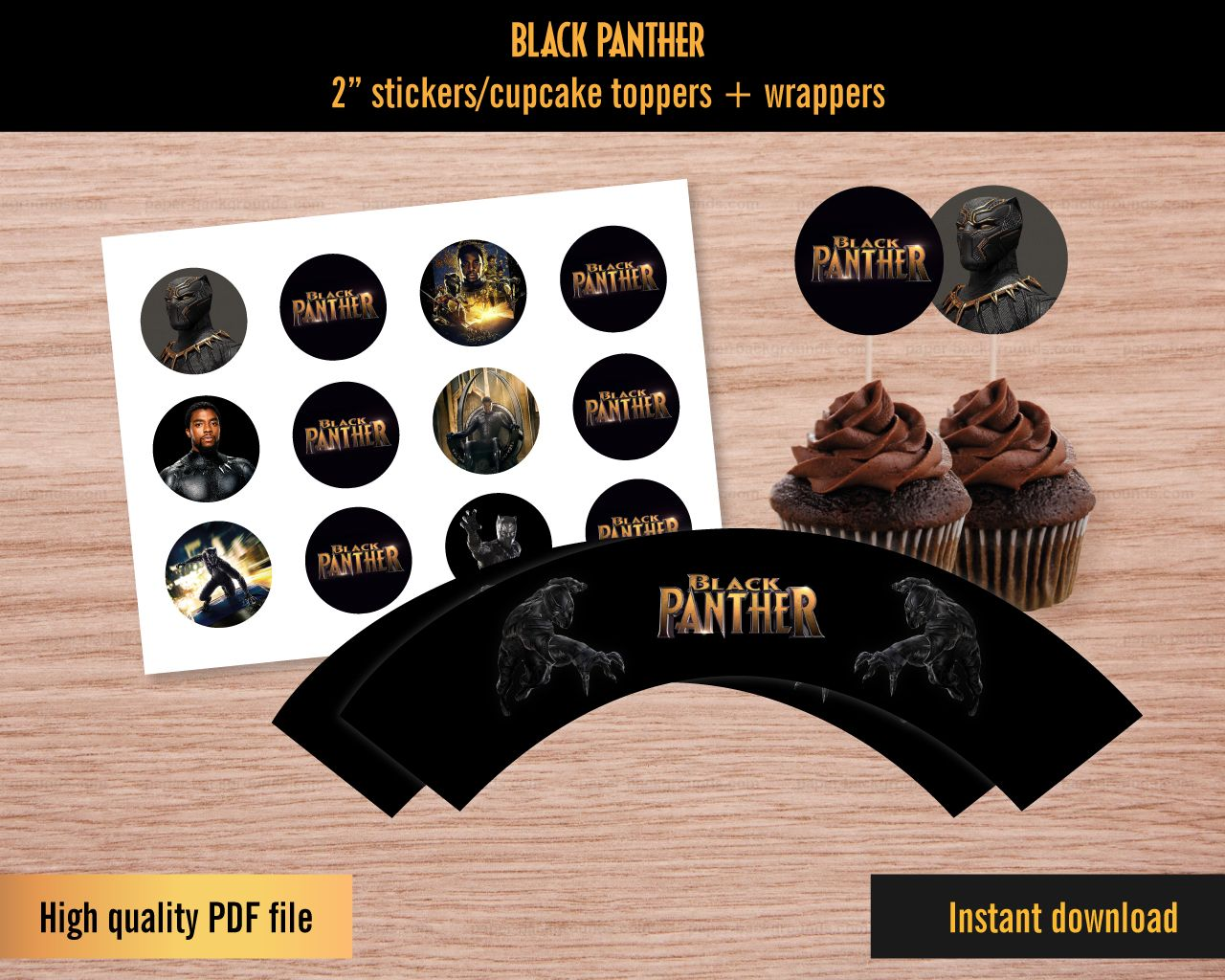 14++ Black panther cake topper printable trends