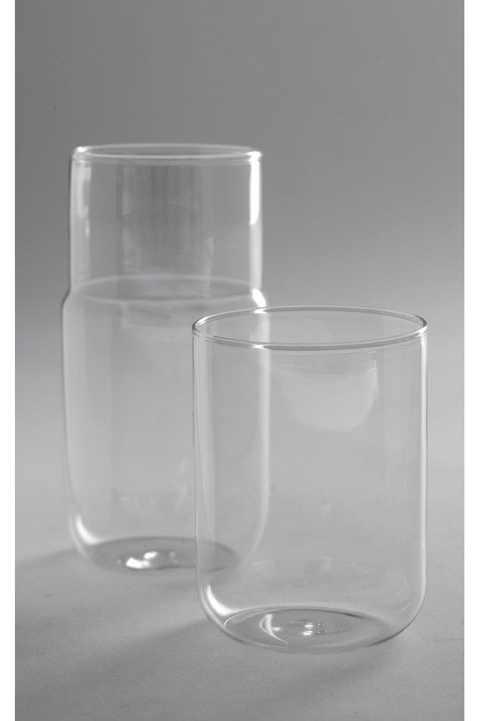 Water carafe with glass.  Beautiful design, great for the bedside table.