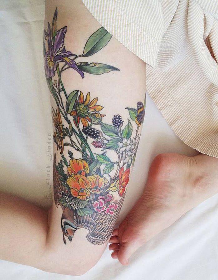 Tatouage Fleur En Couleur 20 Tatouages Fleuris Qui Font Envie
