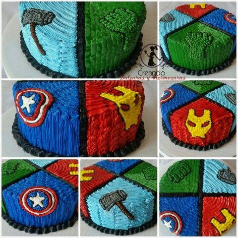 Avengers Cake My Own Cakes Pinterest Avenger Cake