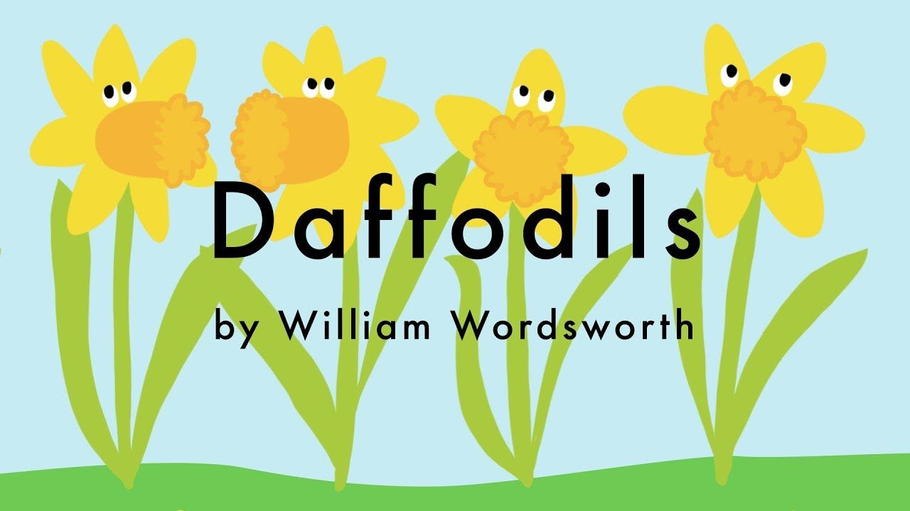 Daffodil Poem By William Wordsworth I Wandered Lonely A Cloud Kid Poems Symbol