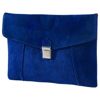Mossimo Supply Co. Large Blue Push Lock Clutch