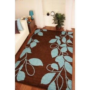 Toledo Chocolate Brown Teal Blue Modern Rug 6071 Decoracao Tapetes Colchas