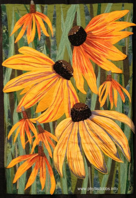 Black-Eyed Susans & Yellow Mexican Hats by Mary Ann Vaca-Lambert, photo by Phyllis Dobbs