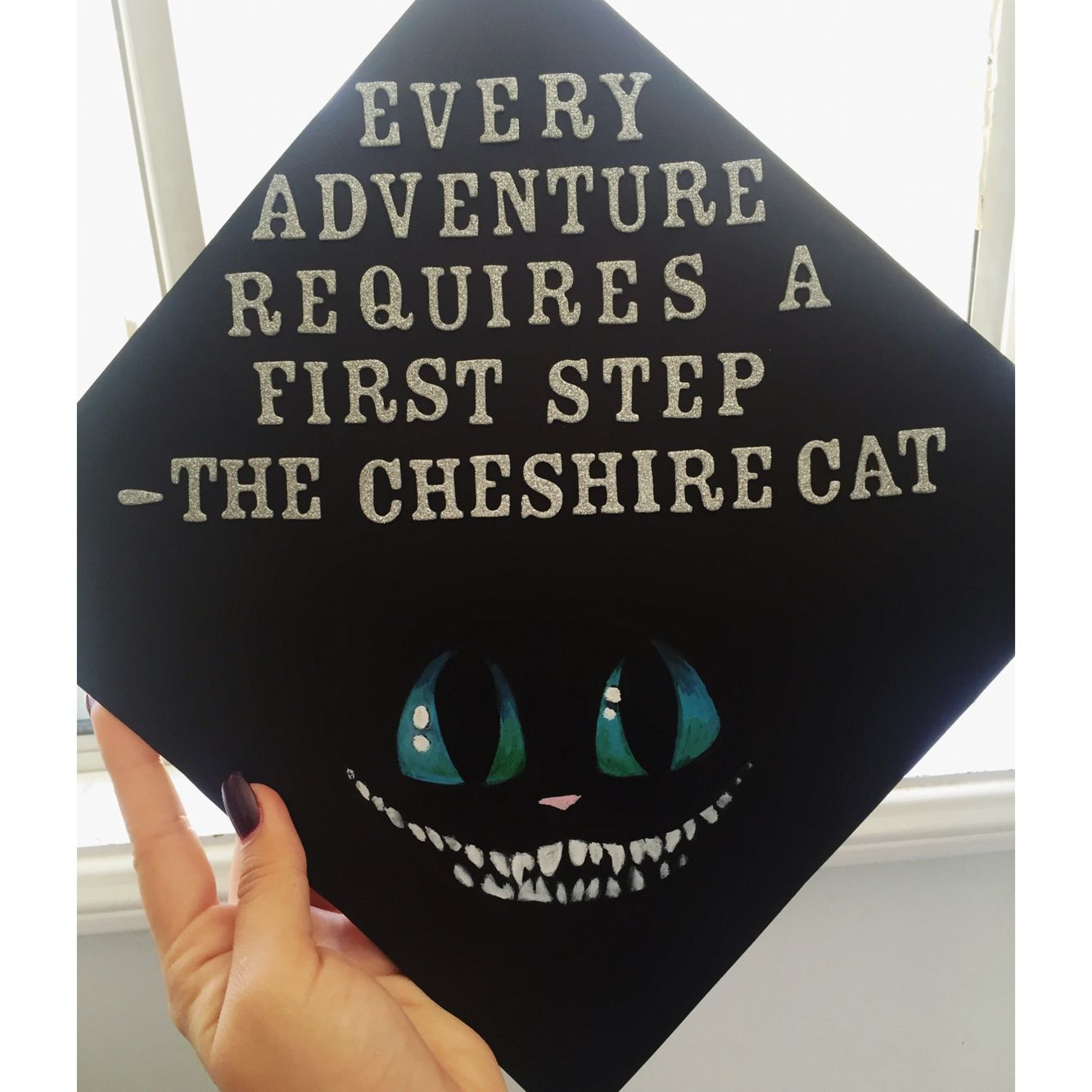 Alice In Wonderland Cheshire Cat Quote Tim Burton Graduation