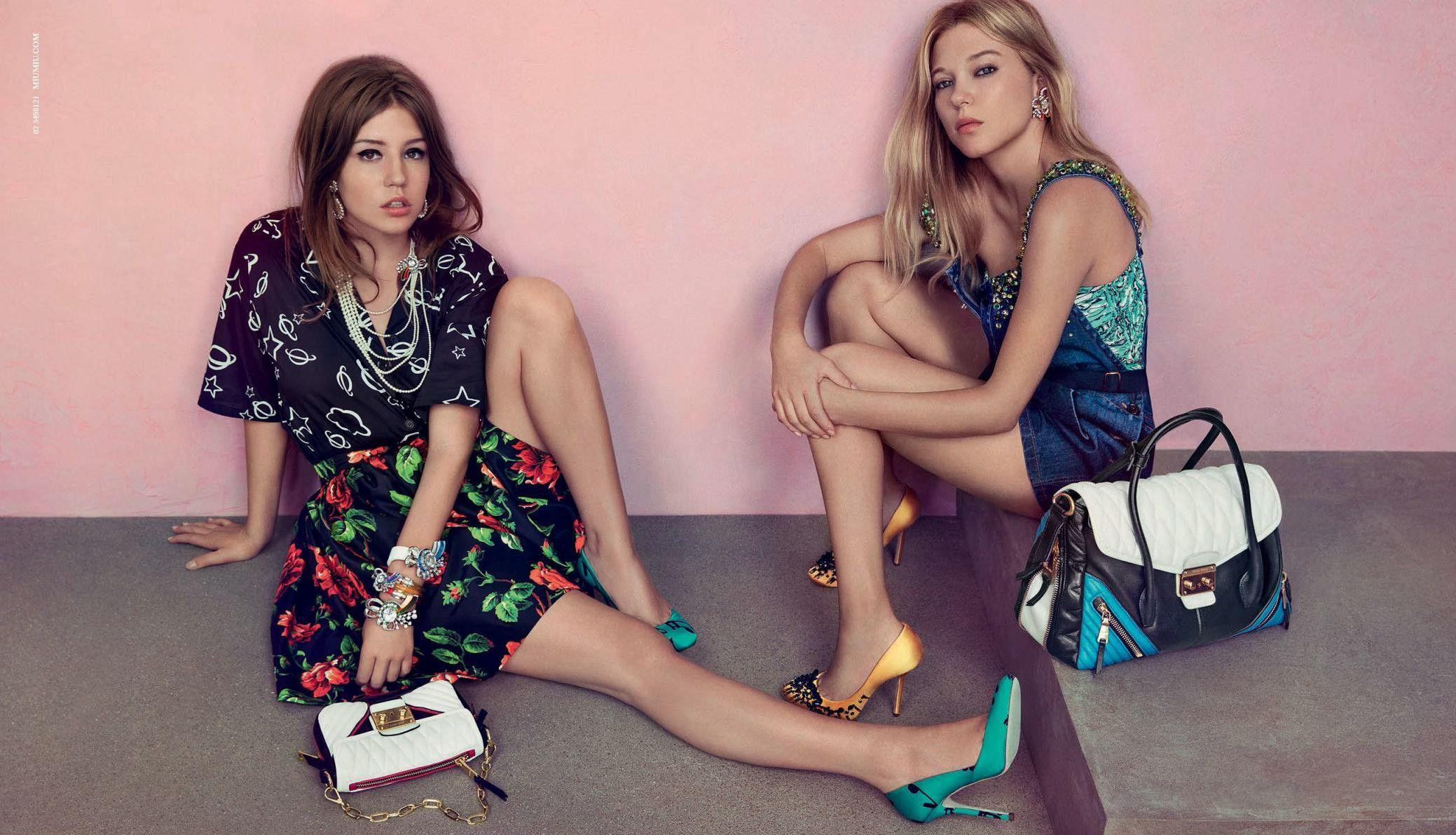Lea Seydoux And Adele Exarchopoulos For Miu Miu Resort Fashion