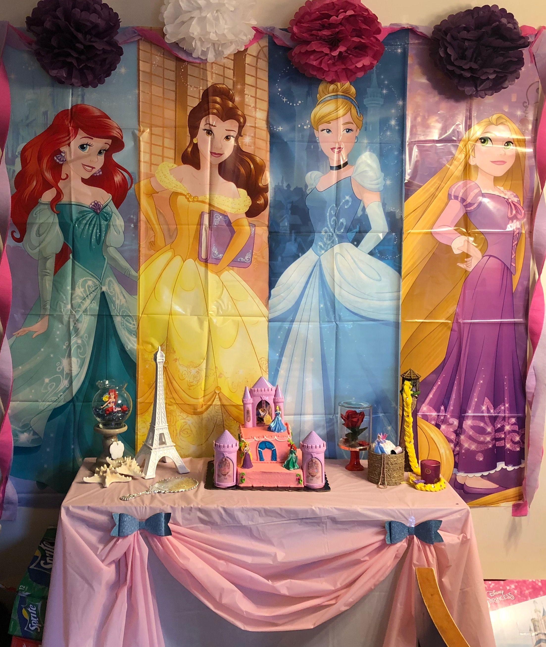 Princess Backdrop Disney Princess Party