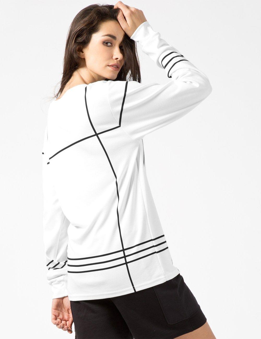 MISBHV White Grid L/S T-Shirt