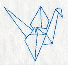 Origami Crane Design UT7327 From UrbanThreads