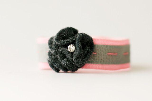 flax & twine: Day 20: A Rosette Bracelet - a diy jewelry tutorial