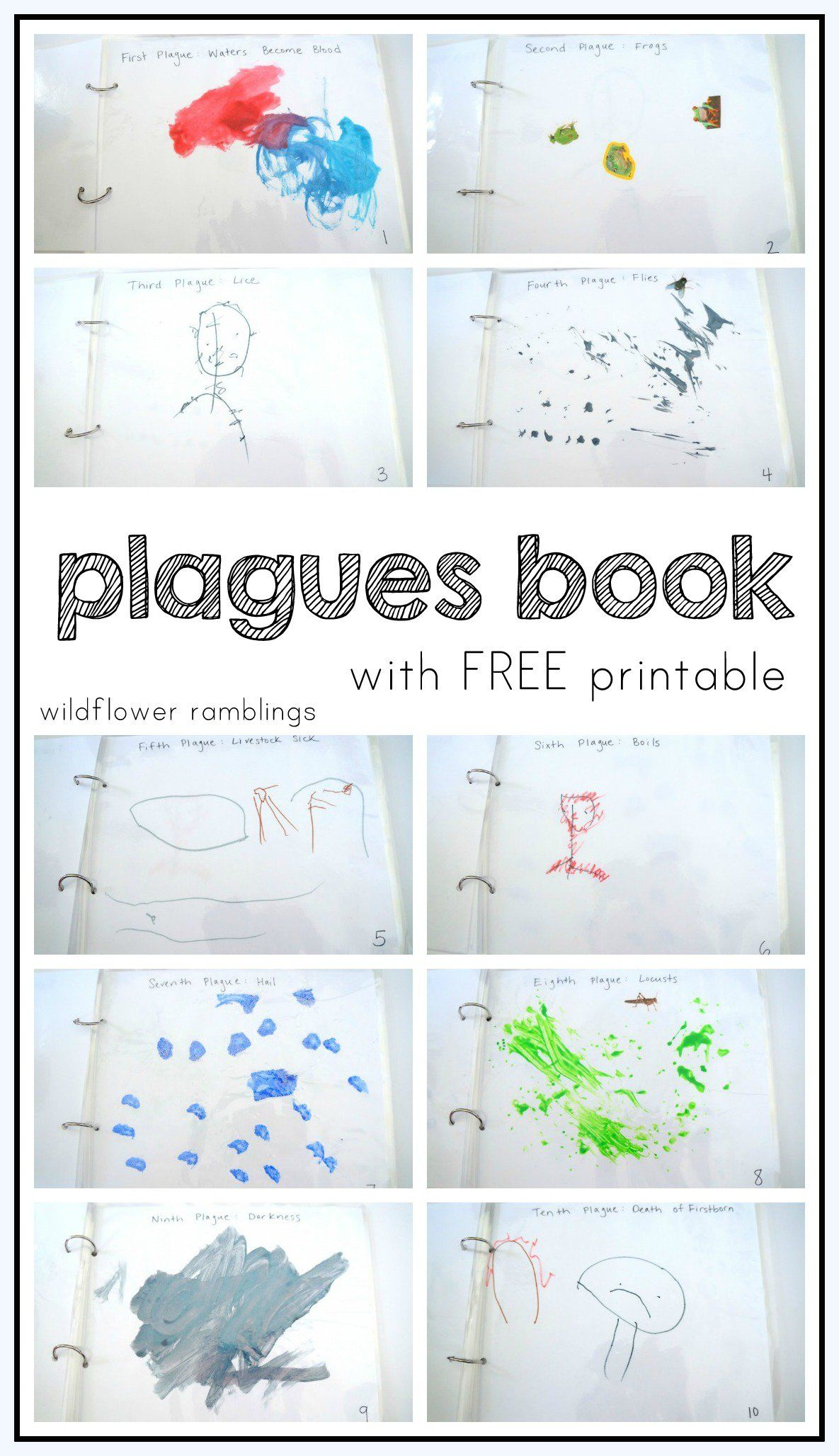 make your own plagues book {free printable} | Tot School: Bible