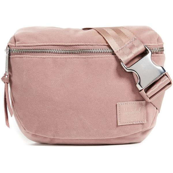 Velvet Fifteen Fanny Pack ($50) ❤ liked on Polyvore featuring bags, ash  rose, herschel supply co bag, velvet bags, hip fanny pa… | Pinteres…