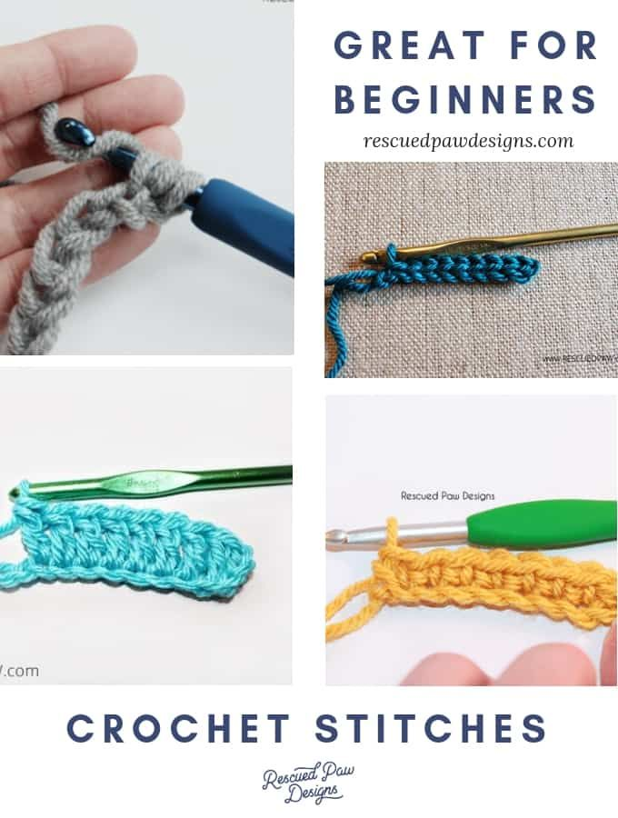5 Easy Crochet Stitches to Learn – Rescued Paw Designs