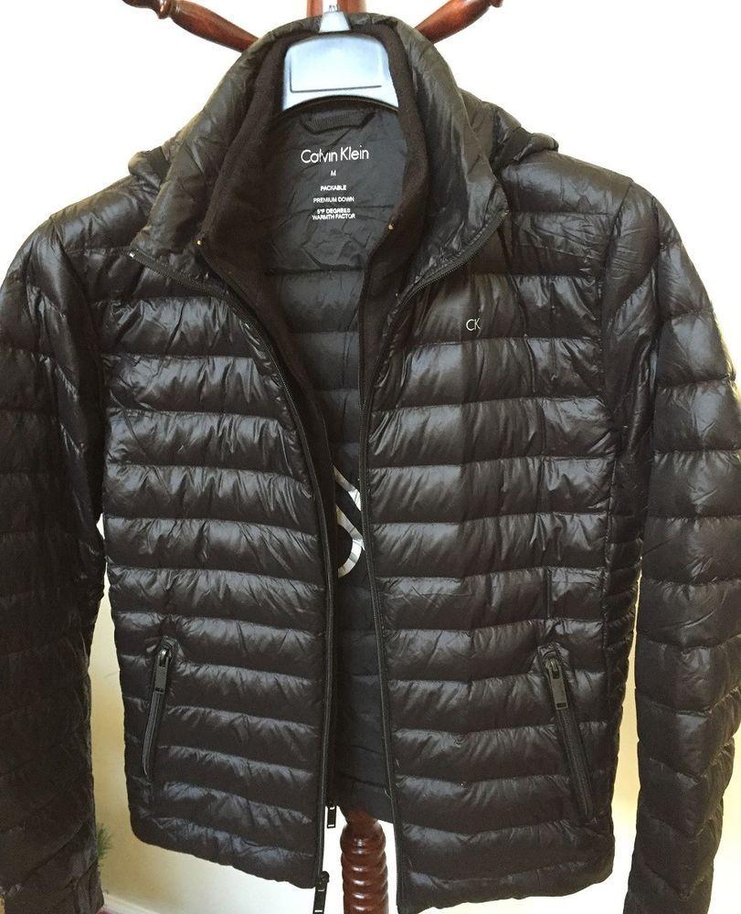 Calvin Klein Men S Packable Down Hooded Puffer Jacket Jackets Calvin Klein Men Puffer Jackets [ 1000 x 811 Pixel ]