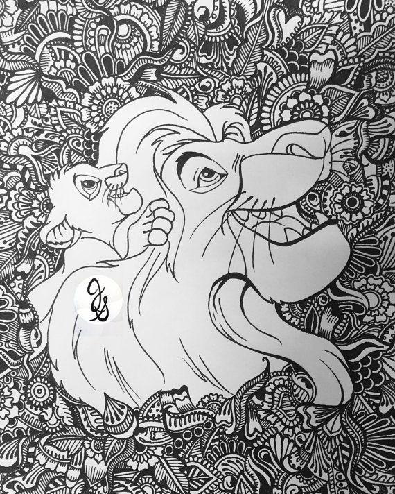 Lion King Design Mandala Coloring Pages Disney Coloring Pages Mandala Coloring