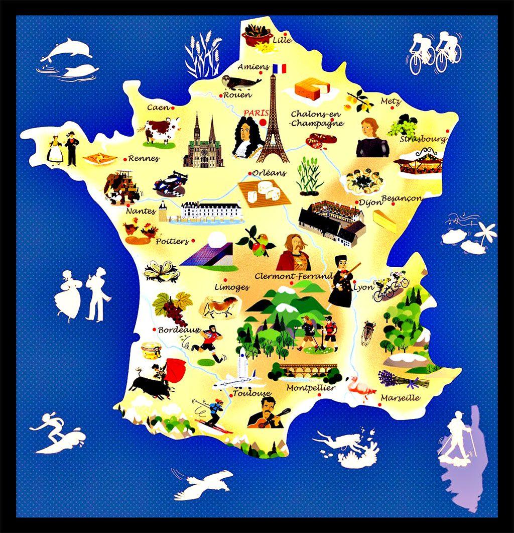 carte france touristique détaillée