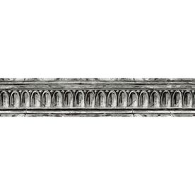 "allen   roth�4-1/8"" Black And Grey Crown Molding Prepasted Wallpaper Border"