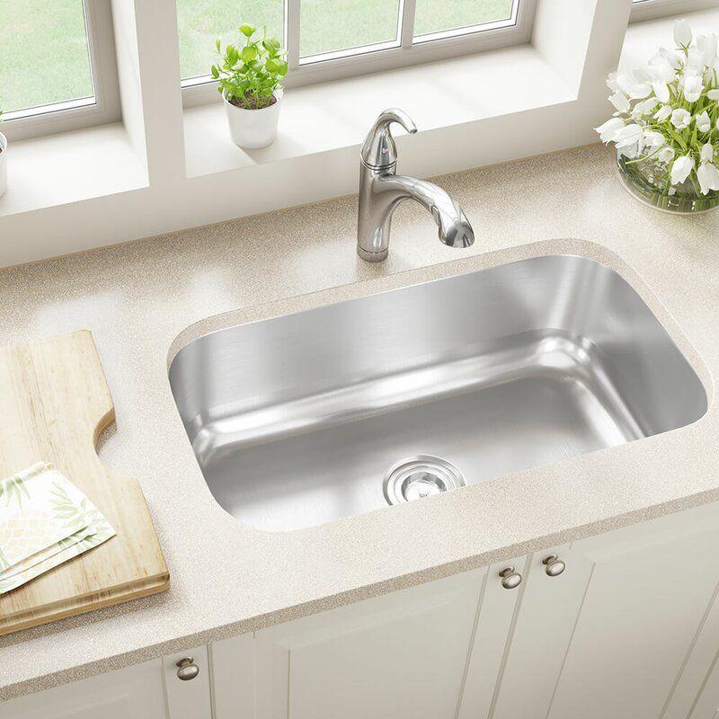 Stainless Steel 31 X 18 Undermount Kitchen Sink In 2021 Undermount Kitchen Sinks Stainless Steel Kitchen Single Bowl Kitchen Sink Undermount single bowl kitchen sink