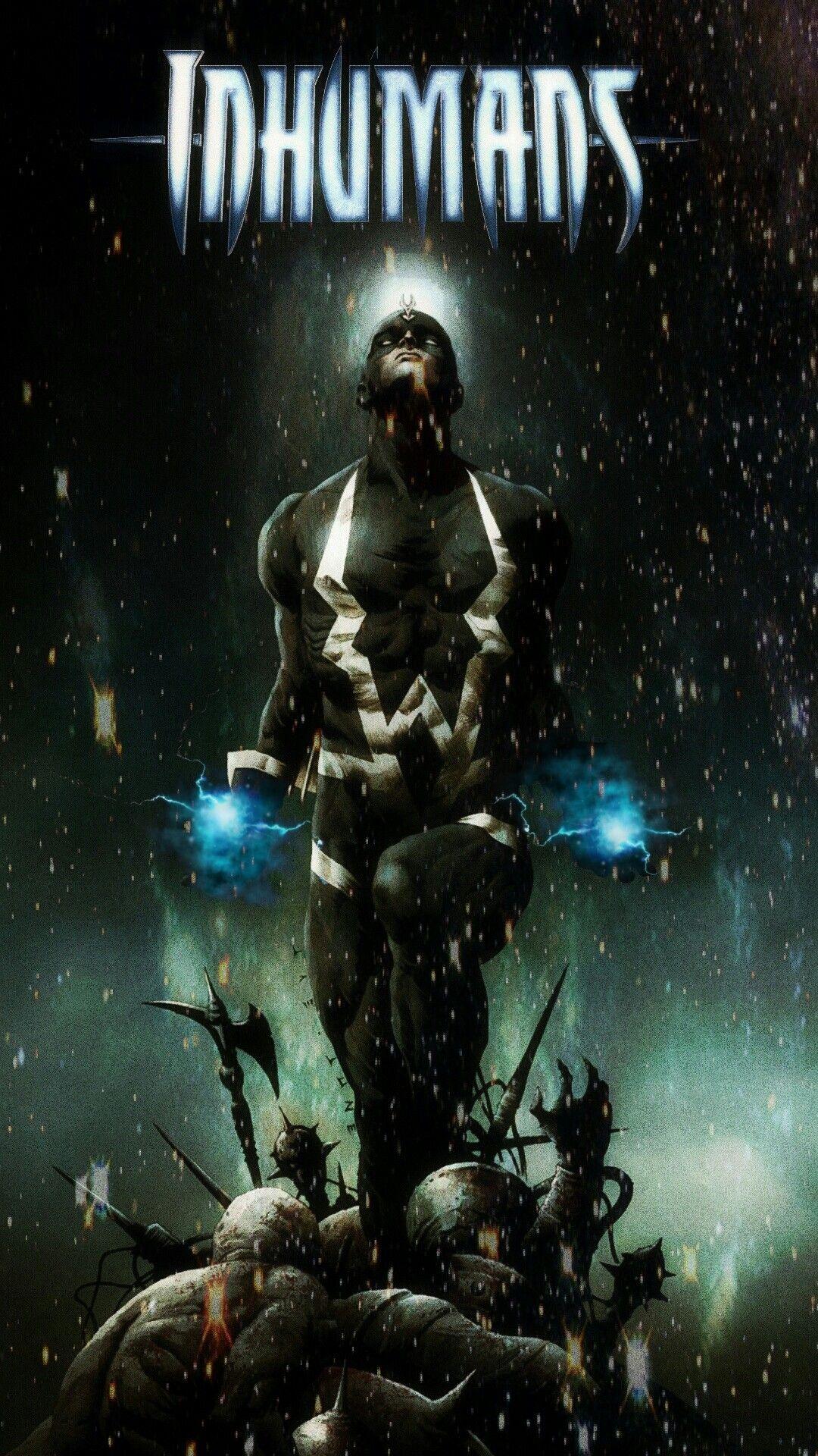 Black Bolt Marvel's Inhumans Iphone Wallpaper Black bolt