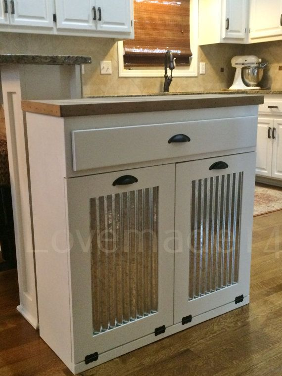 Tilt Out Trash Kitchen Trash Tilt Out Trash Can Laundry Hamper Double Tilt Out Tilt Out Garbage Farmhouse Kitchen Trash Cans Laundry Hamper Diy Cabinets
