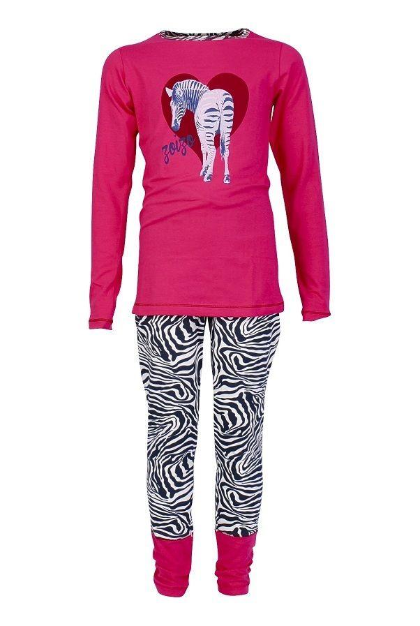26cdc886 Zo zo pyjama baggy voor meisjes Zebra, rose | Kinderpyjama's ...