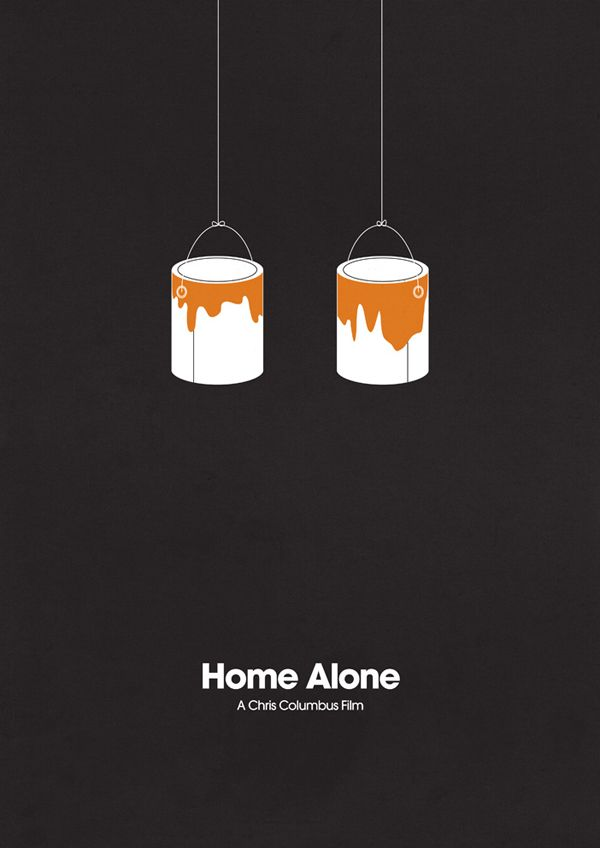 Minimalist poster design for Home Alone. #filmposters