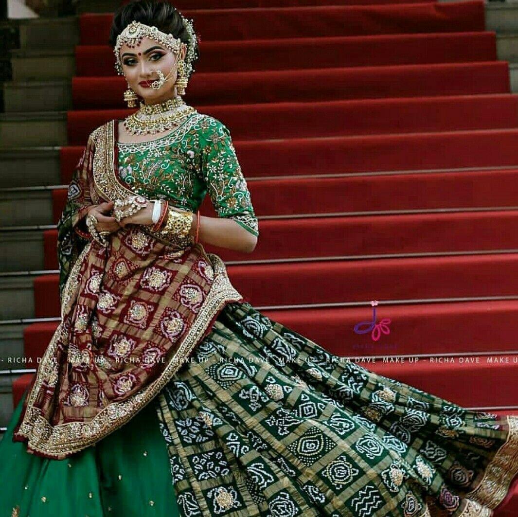 Gujarati Bridal Dress Indian Bridal Dress Indian Bridal Fashion Indian Bridal Outfits