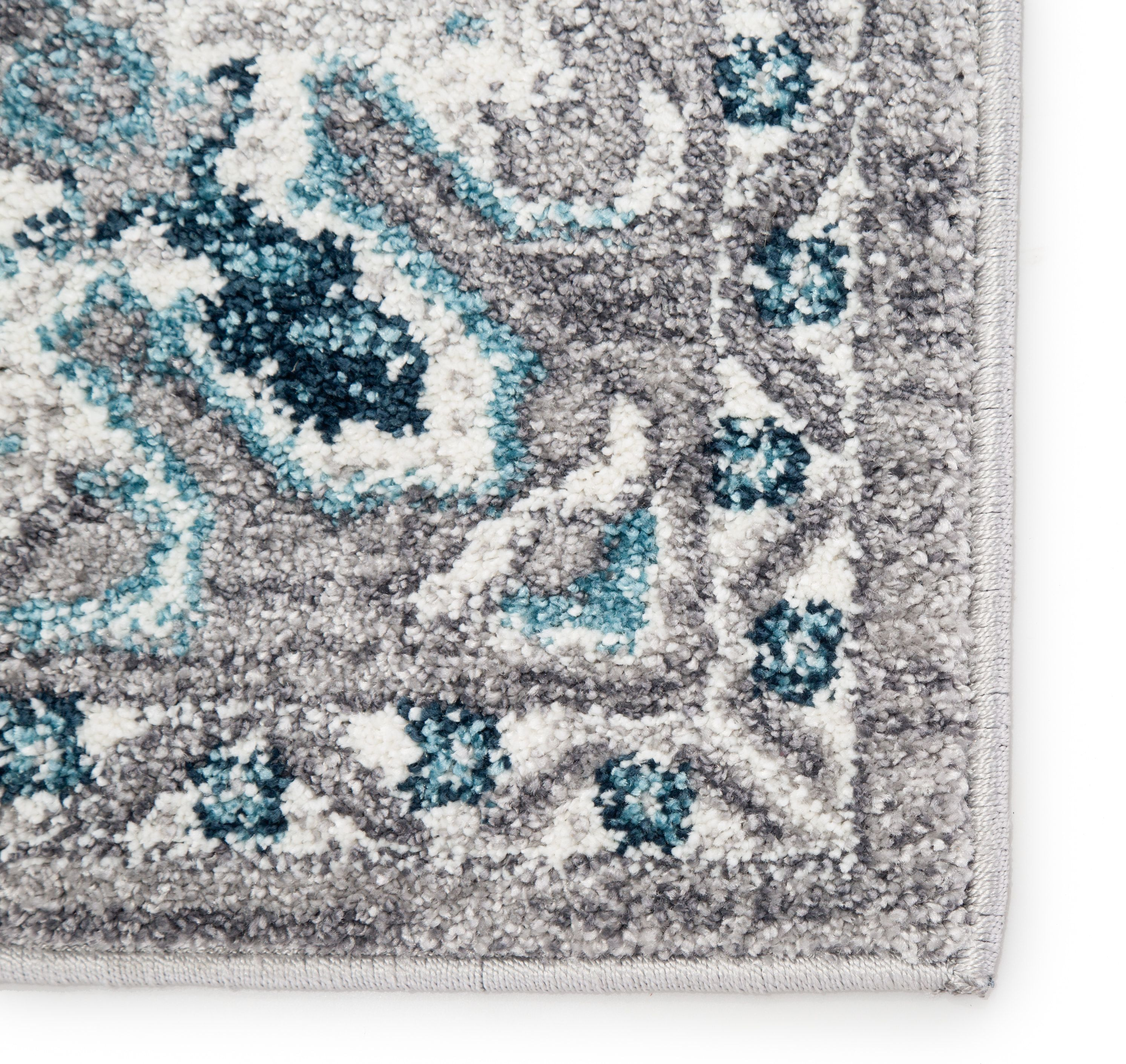 Lyme Rug Color Light Gray Turquoise Size 8 10 X 12 In 2020