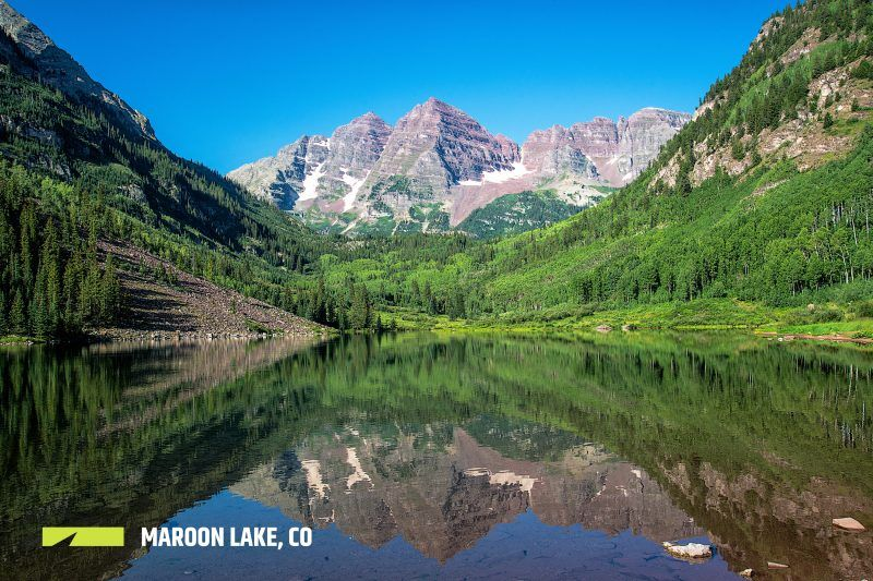 Maroon Lake OutThere Colorado. Road trip itinerary